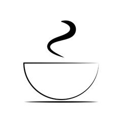 Hot coffee cup vector image vector image