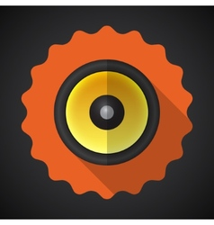 Music Speaker Sound System Flat Icon vector image vector image