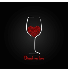 wine glass love concept design background vector image vector image