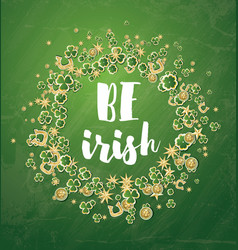 be irish saint patricks day background with vector image vector image