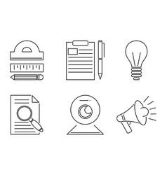 business webinar and online vector image