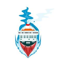 Container Ship Cargo Boat Retro vector image vector image