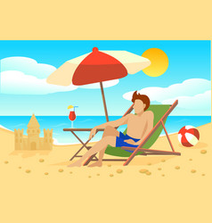 flat summer vacation concept vector image vector image
