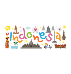 indonesia travel attraction vector image vector image