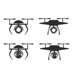 logo dron vector image