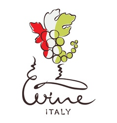 Logotype sign - wine from Italy vector image vector image