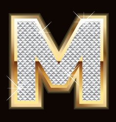 m bling bling vector image vector image