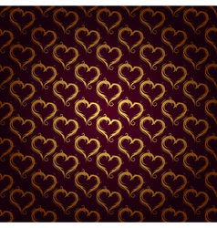 ornaments background red heart vector image vector image