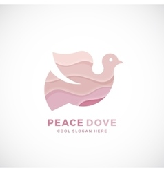 Peace Dove Abstract Logo Template Sign or vector image vector image