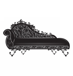 Rich baroque bench vector