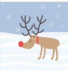 Rudolph Reindeer Christmas Holiday Cartoon vector image vector image