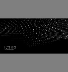 Abstract 3d style particle black background design vector