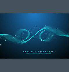 Abstract background with a colored dynamic vector