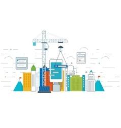 Application development concept for e-business vector image