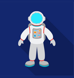 astronaut icon in flate style isolated on white vector image