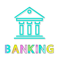 banking operations colorful vector image