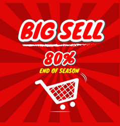 Big sell promotion with price tag vector