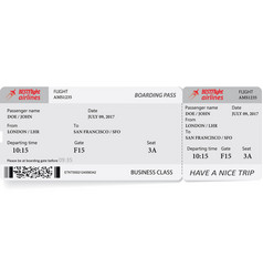 Boarding pass ticket in gray colors vector