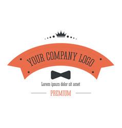 Business logo corporate identity in retro style vector