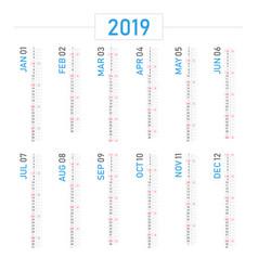calendar 2019 portrait design vector image