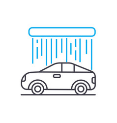 car wash thin line stroke icon car wash vector image