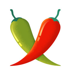 chilli and jalapeno vector image