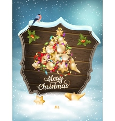 Christmas card with baubles EPS 10 vector