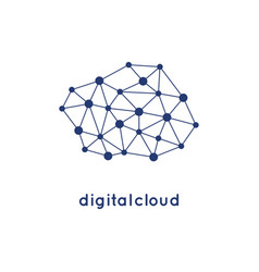 cloud logo icon and template vector image