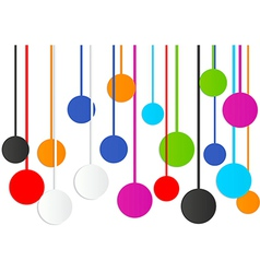 Colorful circle abstract background vector image