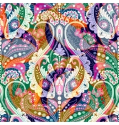 Colorful decorative pattern Ethnic floral vector