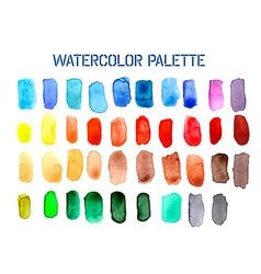 Colour palette comprising watercolour swatches vector