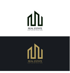 Creative real estate business logo design template vector