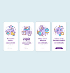 Digital inclusion components onboarding mobile vector