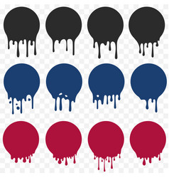 dripping oil blob black paint liquid stain vector image