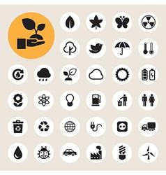Eco energy icons set eps10 vector image