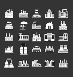 factory icon set grey vector image