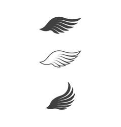 falcon wing icon template vector image