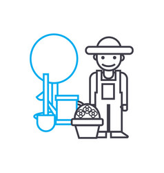 farming linear icon concept farming line vector image