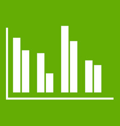 financial analysis chart icon green vector image