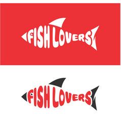 fish lovers logo design vector image