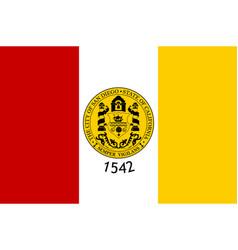 flag of san diego city california usa vector image
