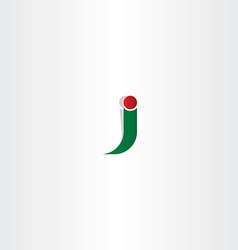green red logo j letter j icon vector image
