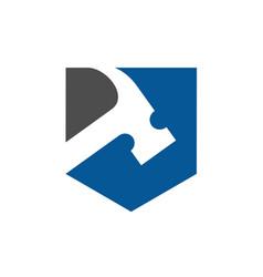 Hammer logo renovation vector