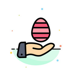 hand egg easter nature abstract flat color icon vector image