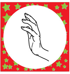 hand gesture touching vector image