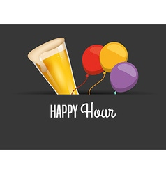 happy hour design vector image