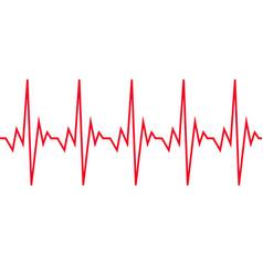 heart beat cardiogram icon vector image
