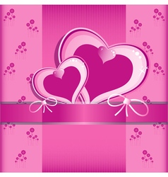 Heart Flower background or card vector image