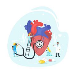 heart treatment concept vector image