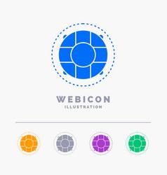 Help life lifebuoy lifesaver preserver 5 color vector